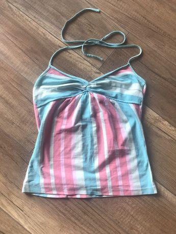 Letnia koszulka H& M w pastelowe paseczki
