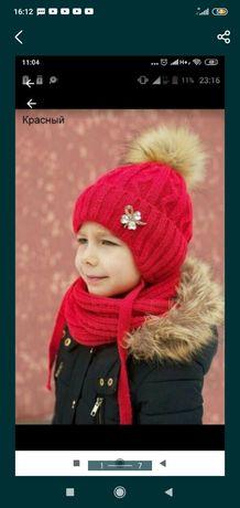 Зимняя шапка девочке