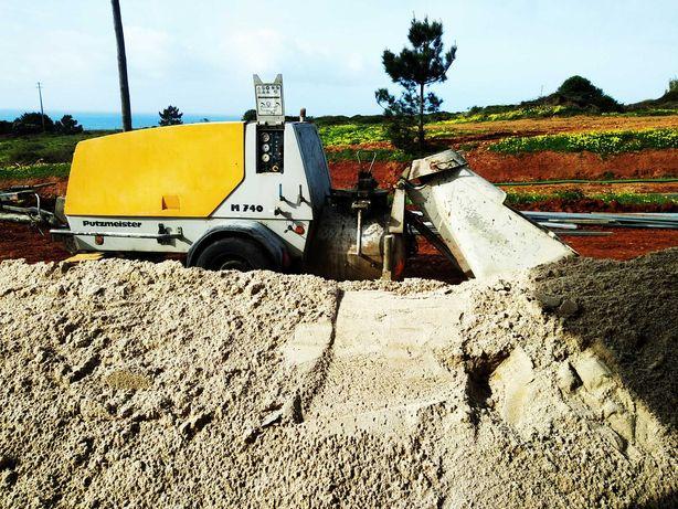 Aluguer de máquinas para betonilhas com compressor incorporado