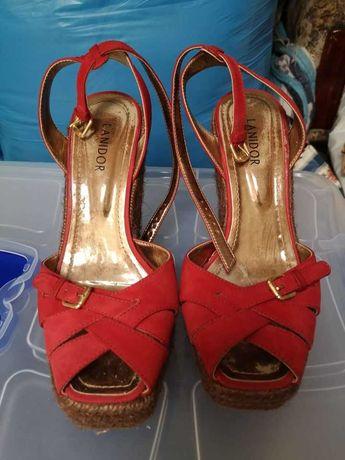 Lanidor - sandálias de pele, tipo alpercata, 38