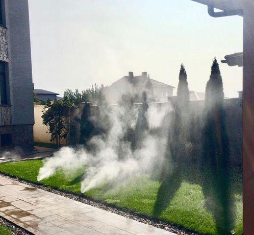 Рулонный газон. Автополив газона.  Туманообразование.