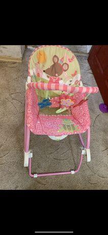 Кресло-качалка,шезлонг Fisher price с вибрацией
