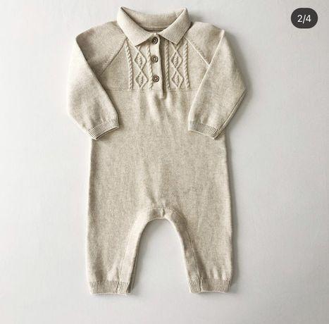 Комбінезон/в'язаний чоловічок/вязаный человечек для новорожденных