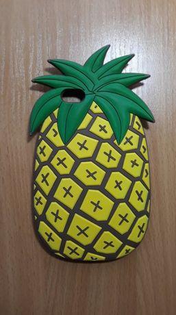 Etui na telefon, cas, silikon, futerał - Ananas-3D