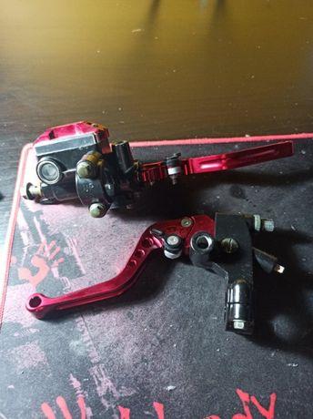 Dźwignie klamki hamulca sprzęgła czerwone motocyklowe pompa pompka