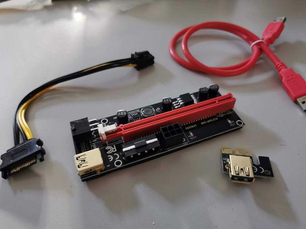 Riser PCI-E 1x p/ 16x - Novos Versão 009S