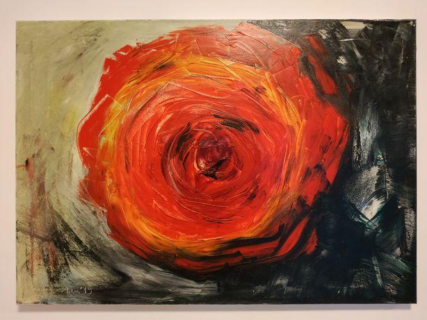 Obraz 70x50 cm. Ręcznie malowany olejnymi farbami.