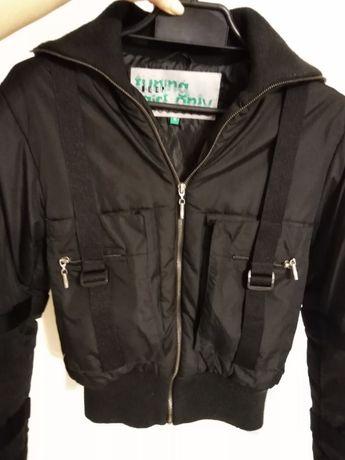 r. M Deep krótka kurtka zimowa wojskowa, w stylu wojskowym, czarna