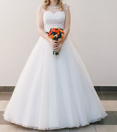 Idealna na jesień! Suknia ślubna rozmiar 38, obcas 8cm z małym kołem