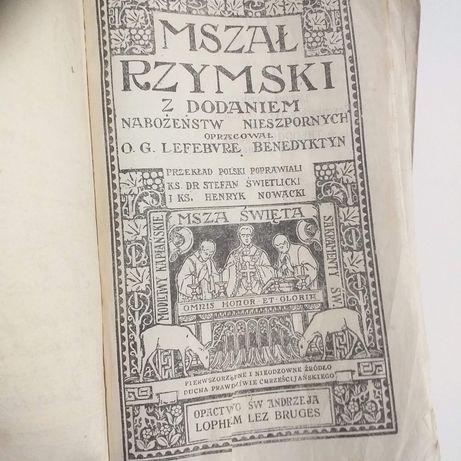 Mszał rzymski 1931r. z dodaniem nabożeństw.