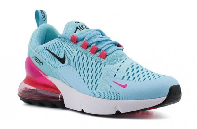 Женские кроссовки Nike Air Max 270 Blue/White/Pink
