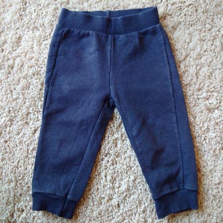 Granatowe bawełniane spodnie dla maluszka