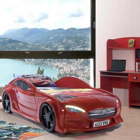 Кровать машинаMersedes GT с подсветкой 80х160 белая, чёрная, красная