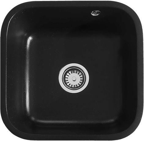 Кухонная мойка Kva-kva K72, бежевый и черный цвета.