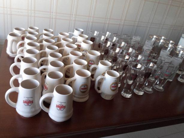 canecas copos relógios coleção