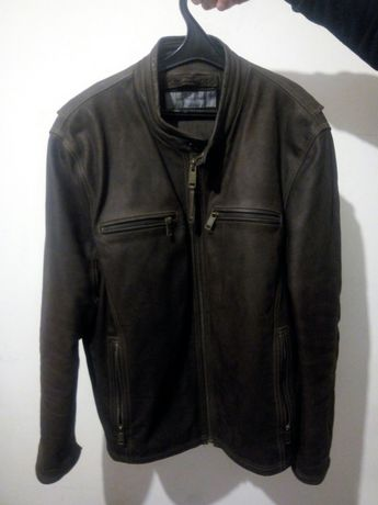 Куртка кожаная нубуковая