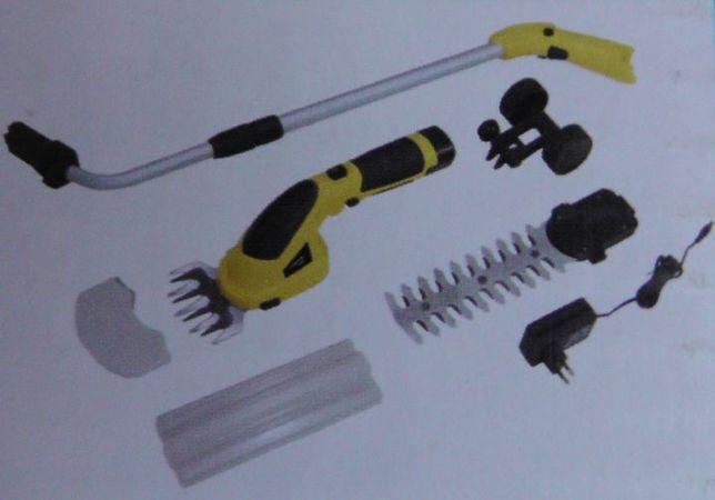 Akumulatorowa ręczna podkaszarka + drążek do trawy i krzewów 7,2V
