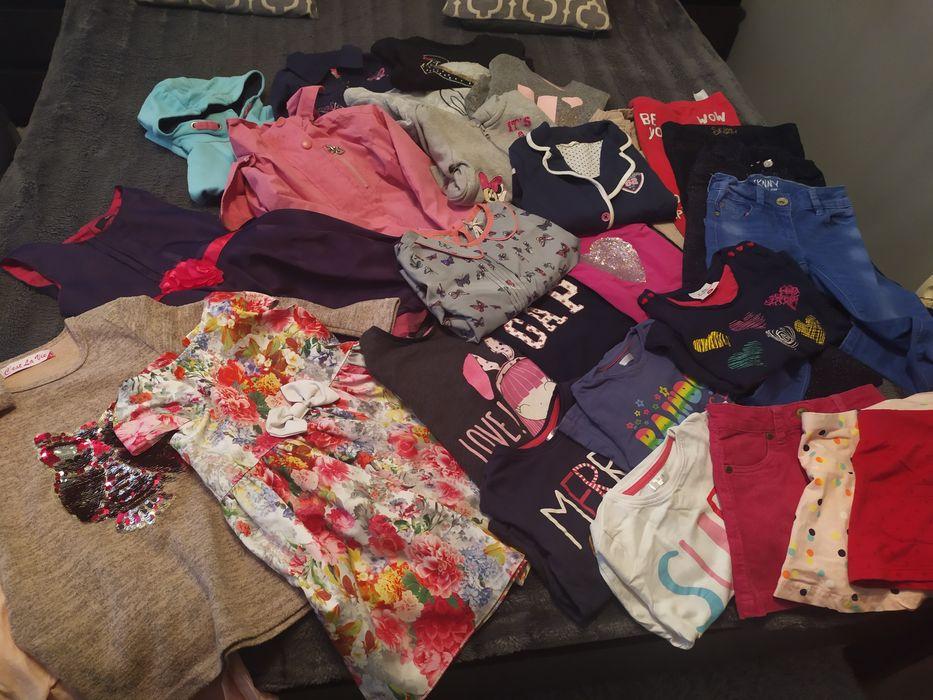 Duży zestaw ubranek dla dziewczynki róż 110 Suwałki - image 1