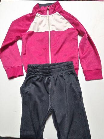Fato treino desporto rosa/cinza 4/5 anos