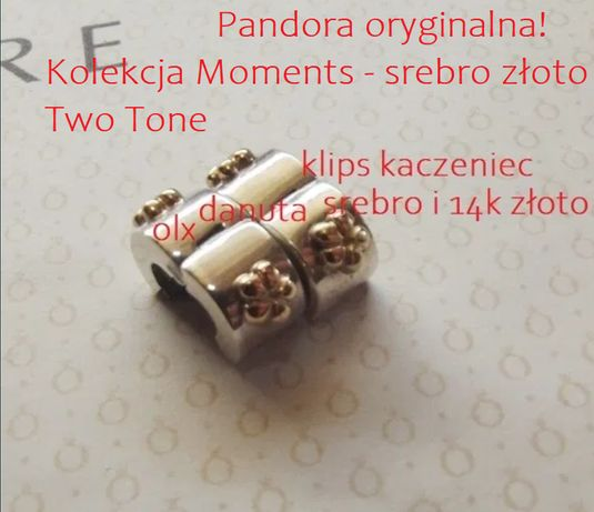 Pandora tt oryginalny Klips KACZENIEC 2szt nowe! Aktualne
