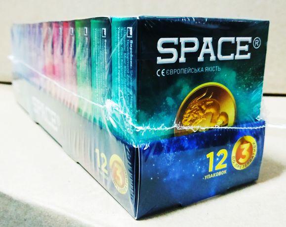 Презервативы SPACE (1 упаковка/12 пачек по 3 шт./36 презервативов)