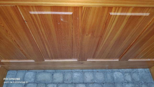 Wyspa kuchenna drewniana bez blatu, 70x165x95