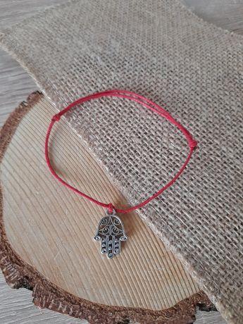 Bransoletka kabała ochrona czerwona handmade
