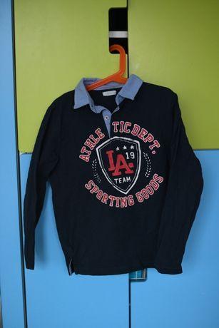 bawełniana bluzka dla chłopca 122 z kołnierzykiem