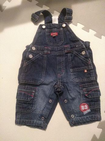 Spodnie jeansowe ogrodniczki rozmiar 62