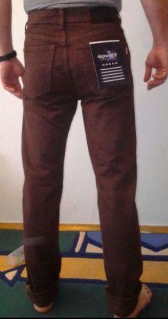 Коричневые джинсы SOVIET, Италия, р.30 29(полуобхват талии 35см) Хлоп