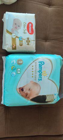 Pampers premium care и Huggies elite soft