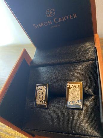 Запонки Simon Carter / King And Queen Of Hearts Cufflink/ London