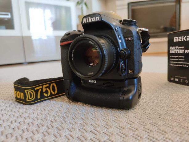 Nikon D750 + 50mm 1.8D + Punho MEIKE MK-D750
