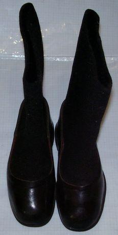 Советские суконные (битые) валенки с калошами 30
