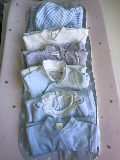 Babygrows bebé menino (1 mês)