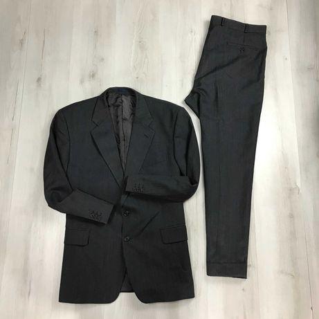 Костюм полушерстяной wool приталенный пиджак брюки Scott International