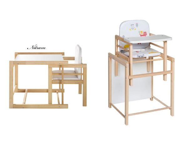 Drewniane Krzesełko do karmienia 2w1 stolik krzeselko schardt xtra ll