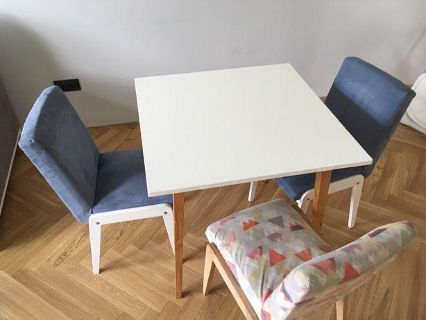 Stolik stół krzesła prl aga