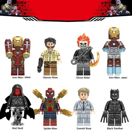 Coleção Bonecos / Minifiguras Super Heróis nº125 - compativeis c/ Lego