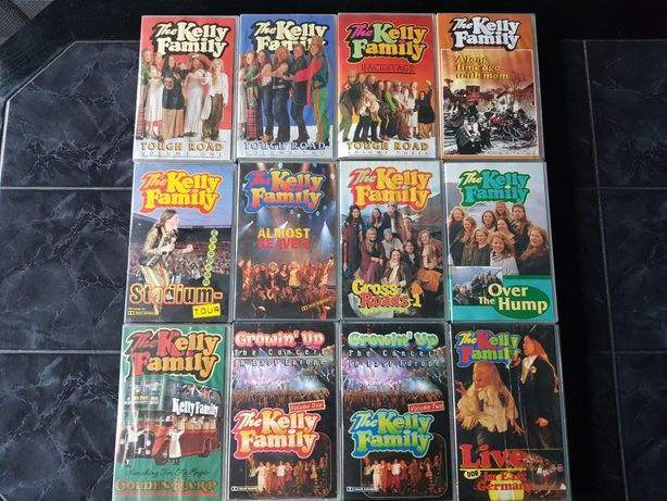 Kasety VHS Kelly Family Almost Heaven, Though Road TANIO 8 ZŁ