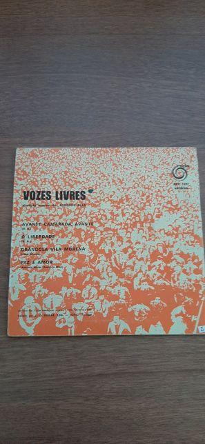 Vinil Vozes livres (avante Camarada, Grândola Vila Morena)