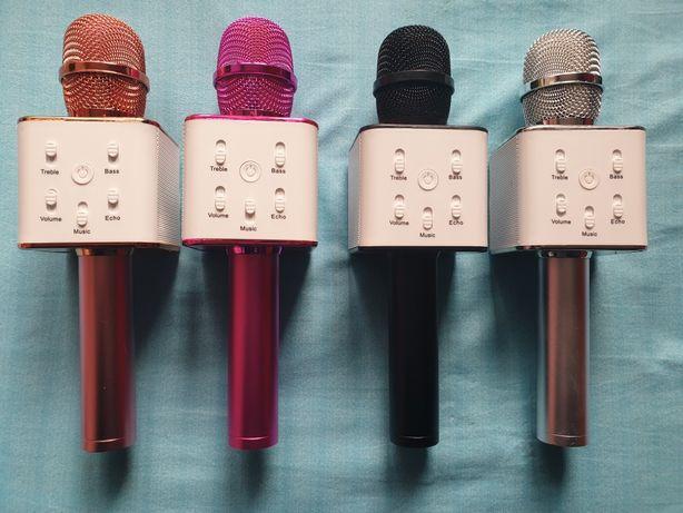Mikrofon prezent karaoke usb bluetooth glosnik 4 kolory etui orgina