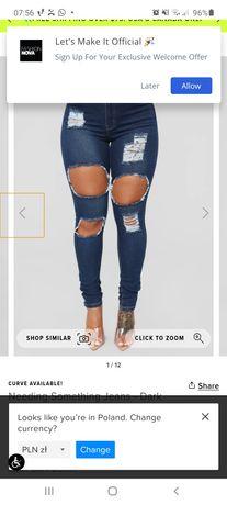 Spodnie plus się jeans 2x fashion nova