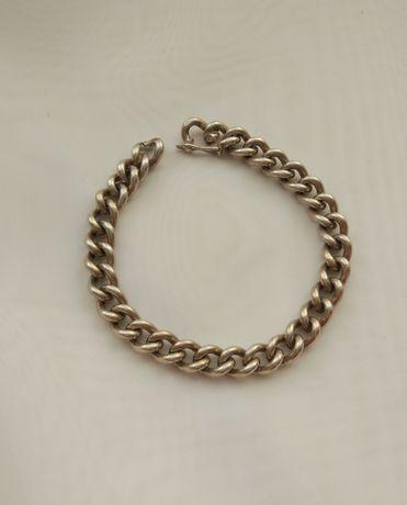 Warmet srebrna bransoleta pancerka męska srebro 925