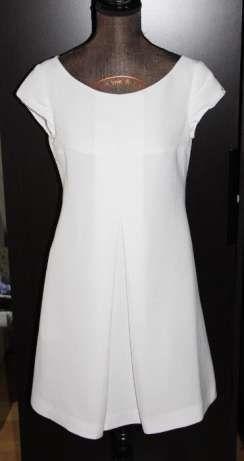 SIMPLE sukienka biała suknia slubna ślub chrzest 36 S ciążowa ciaza