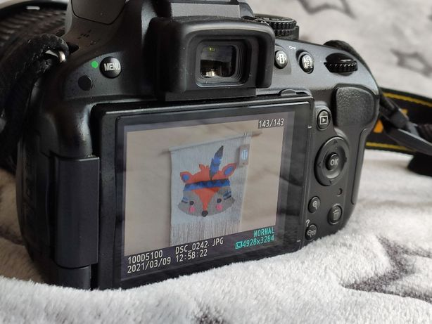 Lustrzanka, aparat Nikon D5100 z obiektywem Nikkor 18-105mm