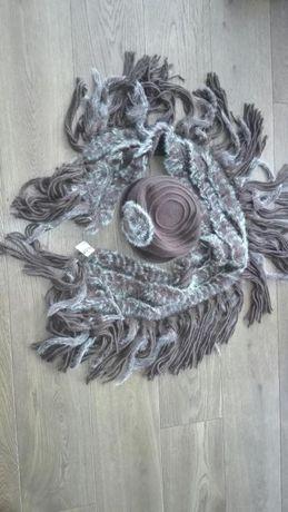 szalik damski i kapelusz katerina futerko z królika