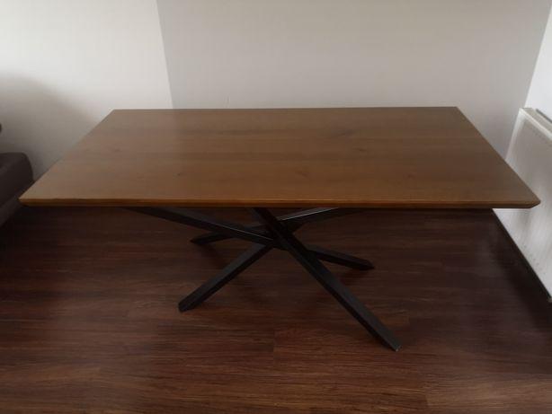 Stół styl indriustialny blat dębowy