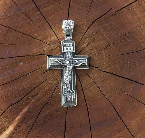 Серебряный крестик/ладанка