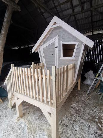 Domek dla dzieci Plac zabaw meble z drewna bujaczka